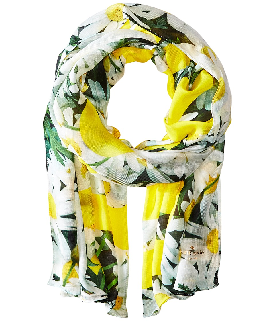 Kate Spade New York - Oops A Daisy Oblong Scarf (Lemon Yellow) Scarves