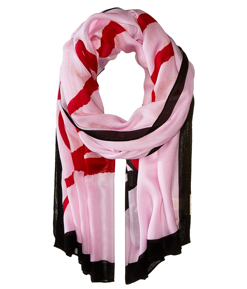 Kate Spade New York - Lovely Oblong Scarf (Valentine Pink) Scarves