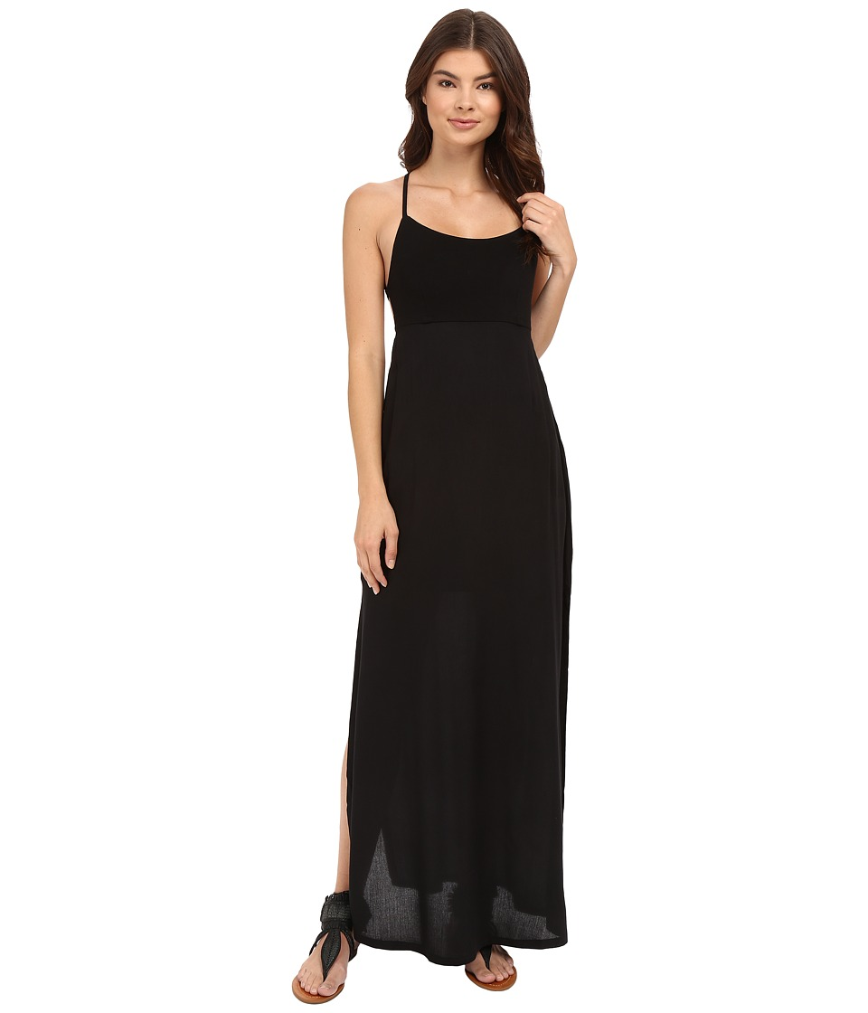 RVCA - Kambria Maxi Dress (Black) Women's Dress