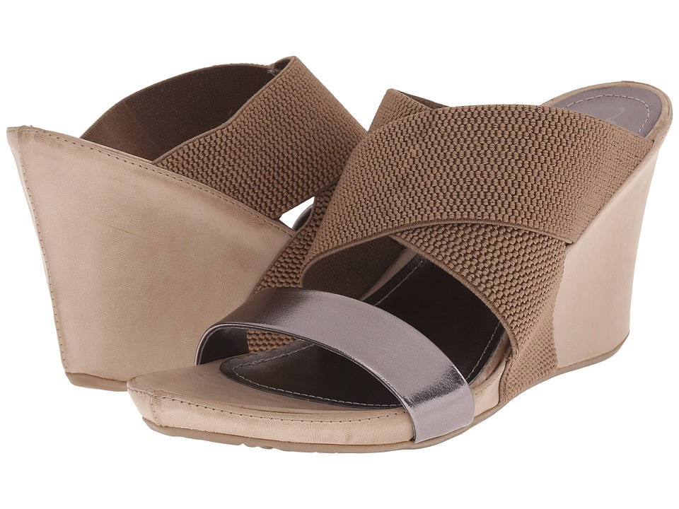 Kenneth Cole Unlisted - Cob Web (Taupe/Hematite) Women's Wedge Shoes