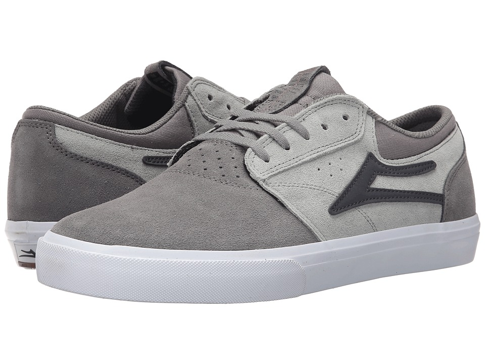 Lakai - Griffin (Grey Suede) Men's Skate Shoes