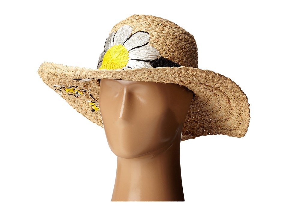 Kate Spade New York - Embroidered Daisy Sun Hat (Natural) Caps