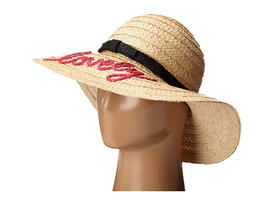 Kate Spade New York - Embroidered Lovely Sun Hat (Natural) Caps