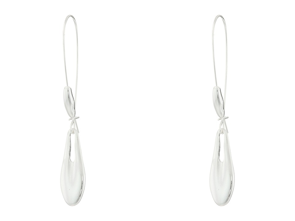 Robert Lee Morris - Silver Shepherd Hook Earrings (Shiny Silver) Earring