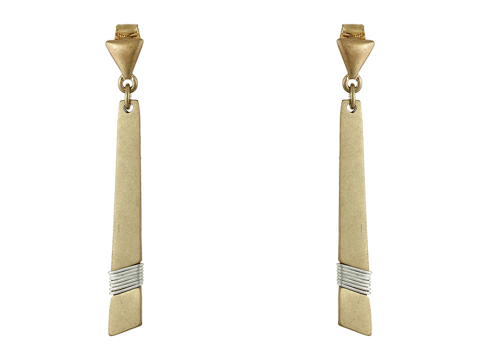 Robert Lee Morris - Two-Tone Stick Earrings (Two-Tone) Earring