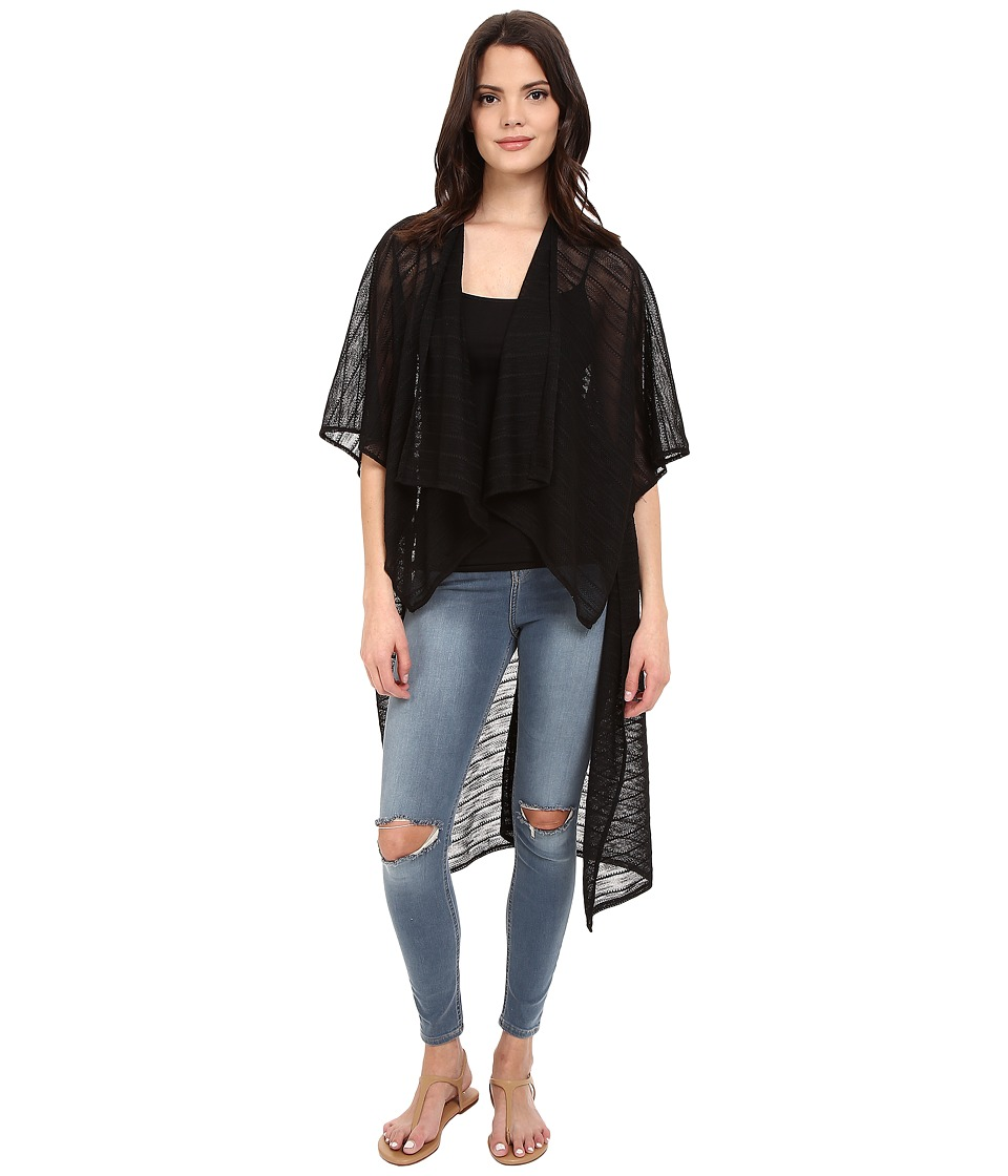 BCBGeneration - Off Campus Kimono (Black) Women's Clothing