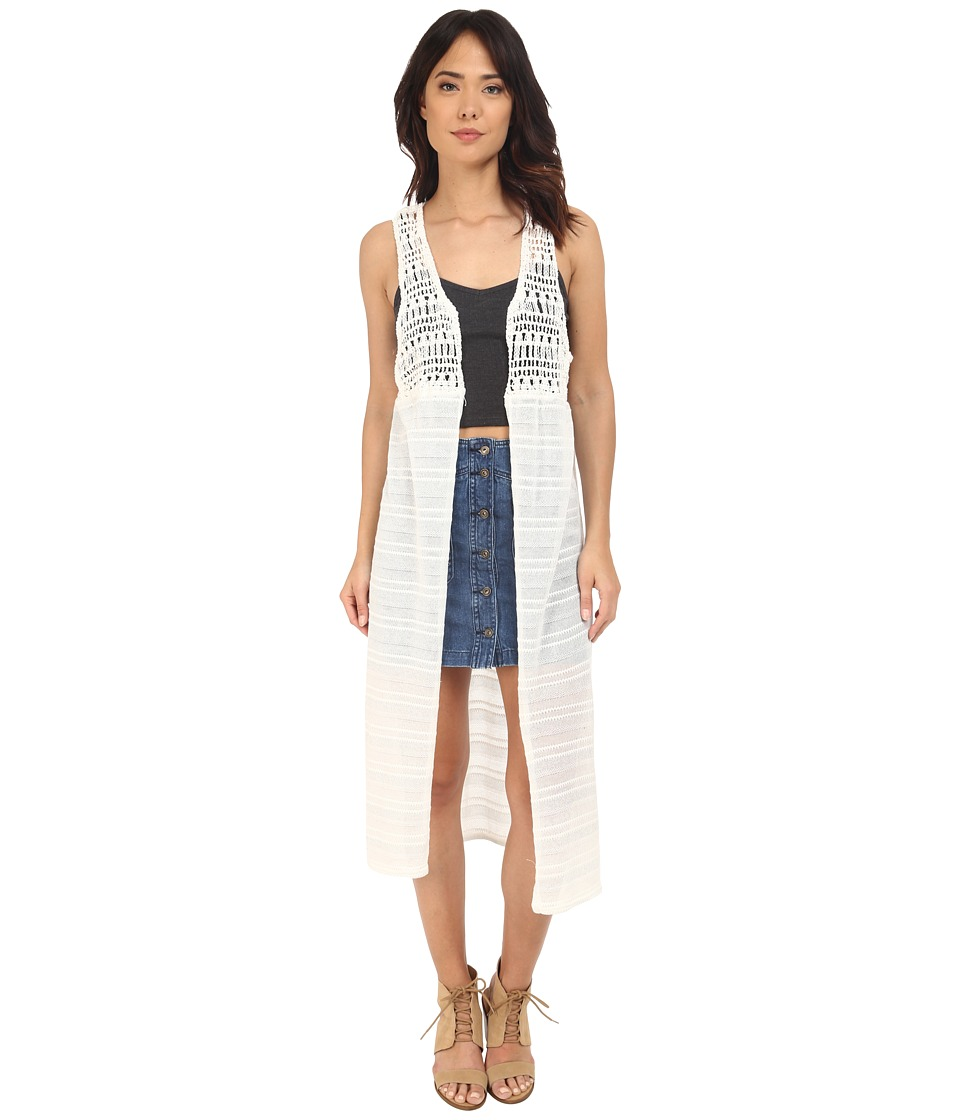 BCBGeneration - Mixed Media Vest (White) Women's Vest
