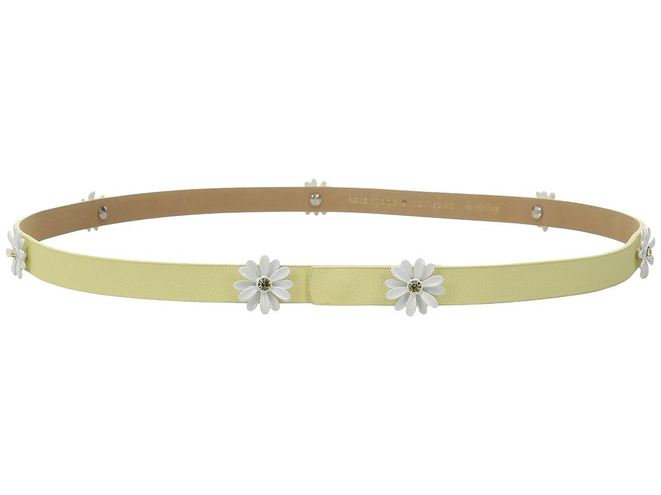 Kate Spade New York - 16mm Daisy Studs Belt (Lemon Souffle) Women's Belts