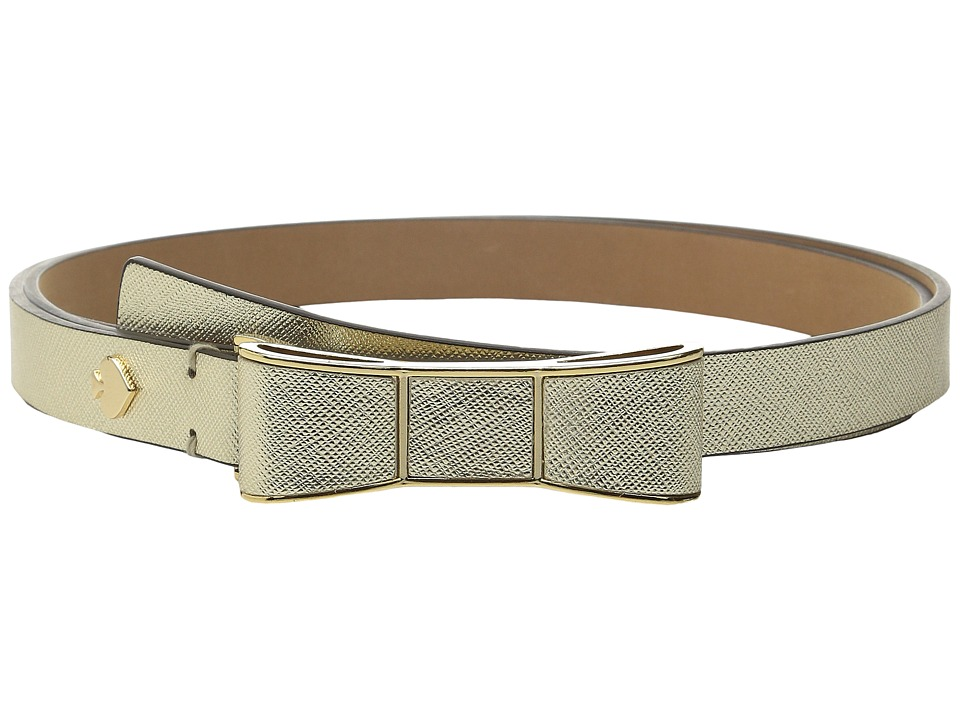Kate Spade New York - 20mm Bow Belt (Gold) Women's Belts