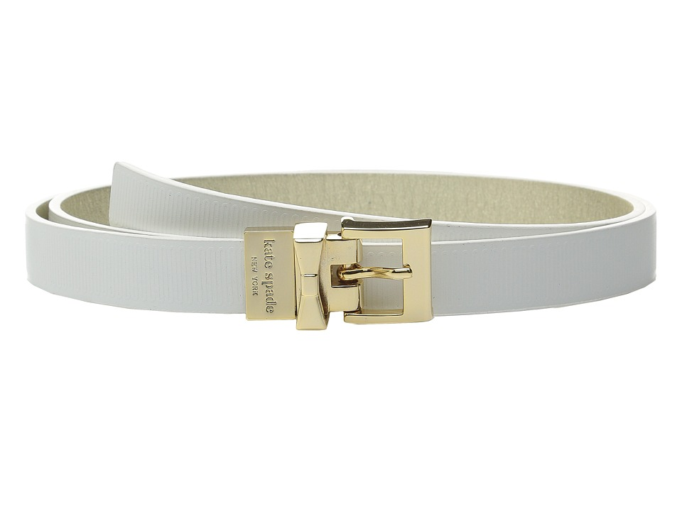 Kate Spade New York - 20mm Grosgrain Embossed Belt (White) Women's Belts