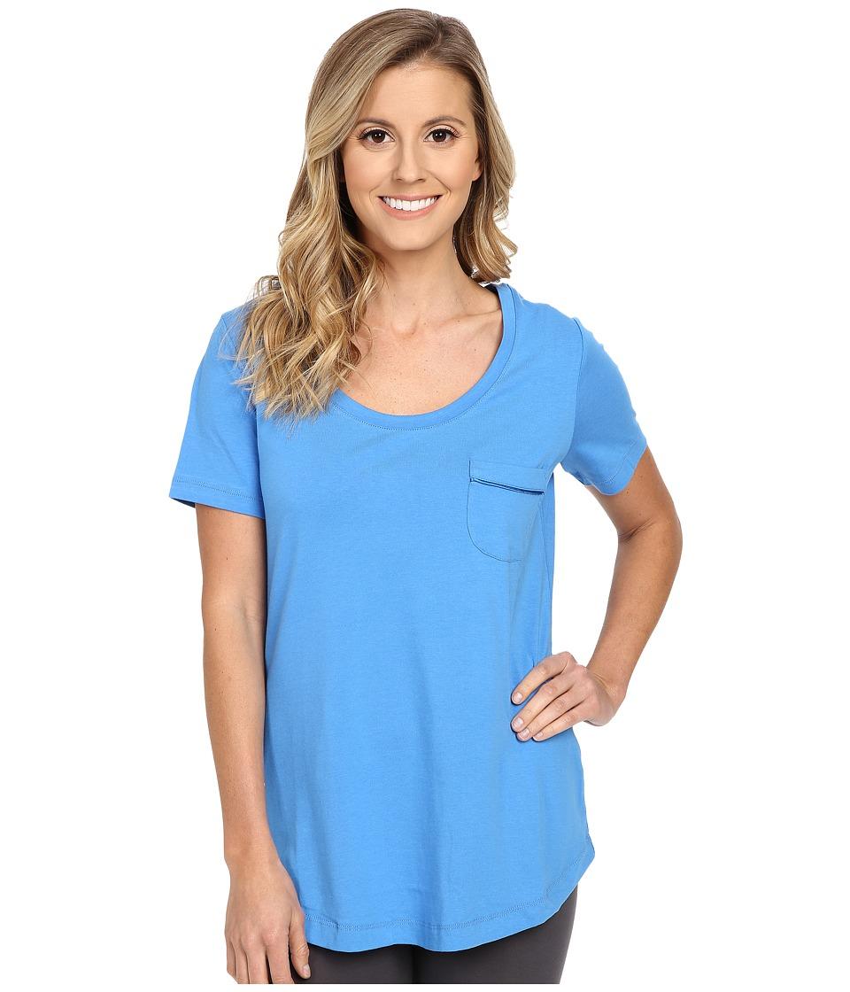 Vera Bradley - Knit Short Sleeve Pajama Tee (Coastal Blue) Women's Pajama