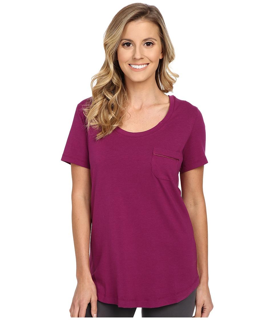 Vera Bradley - Knit Short Sleeve Pajama Tee (Plum) Women's Pajama
