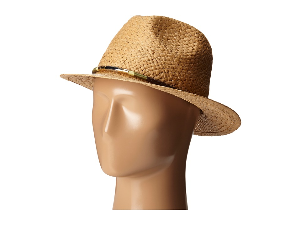 Vince Camuto - Panama with Color Block Band Hat (Tan) Caps