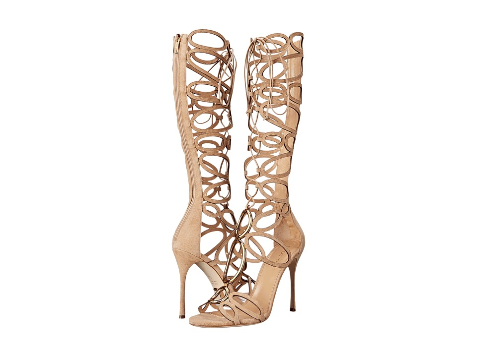 Sergio Rossi - Farrah (Honey Cream Suede) High Heels