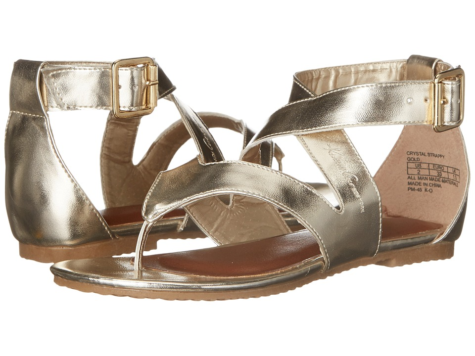 Kenneth Cole Reaction Kids - Crystal Strappy (Little Kid/Big Kid) (Gold) Girl