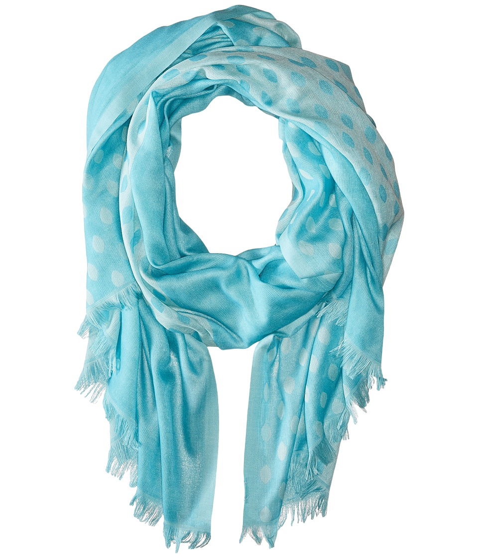 Vera Bradley - Two-Tone Scarf (Ikat Diamonds Teal) Scarves