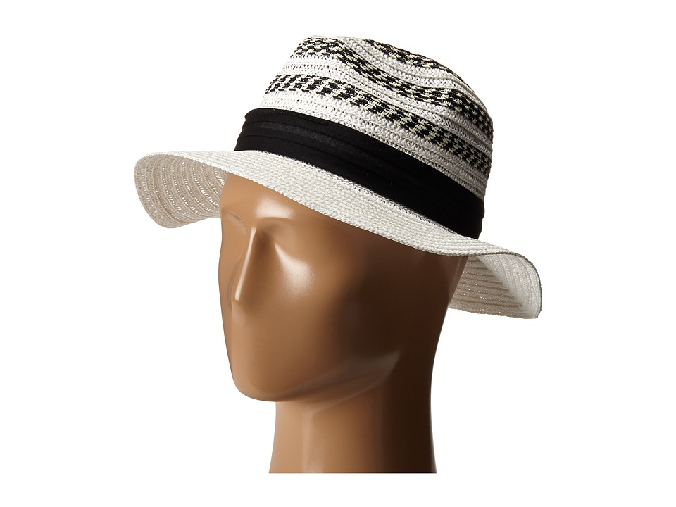 Vince Camuto - Striped Fedora Hat (White) Fedora Hats