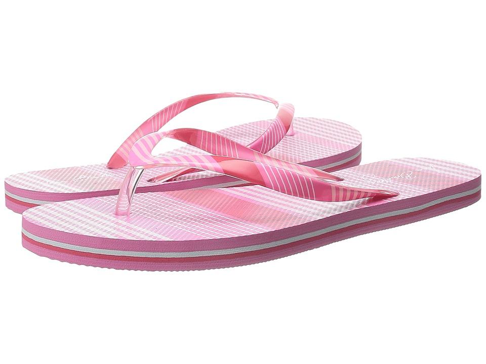 Vera Bradley - Flip Flops (Pink Tonal Stripe) Women's Slippers