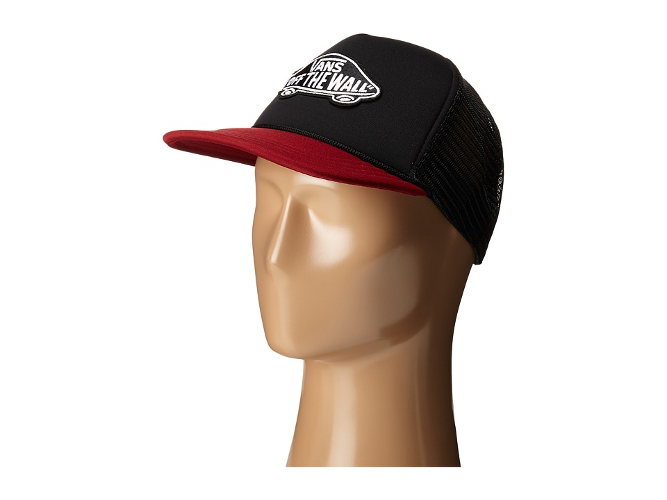 Vans - Classic Patch Trucker (Black/Rhubarb) Caps