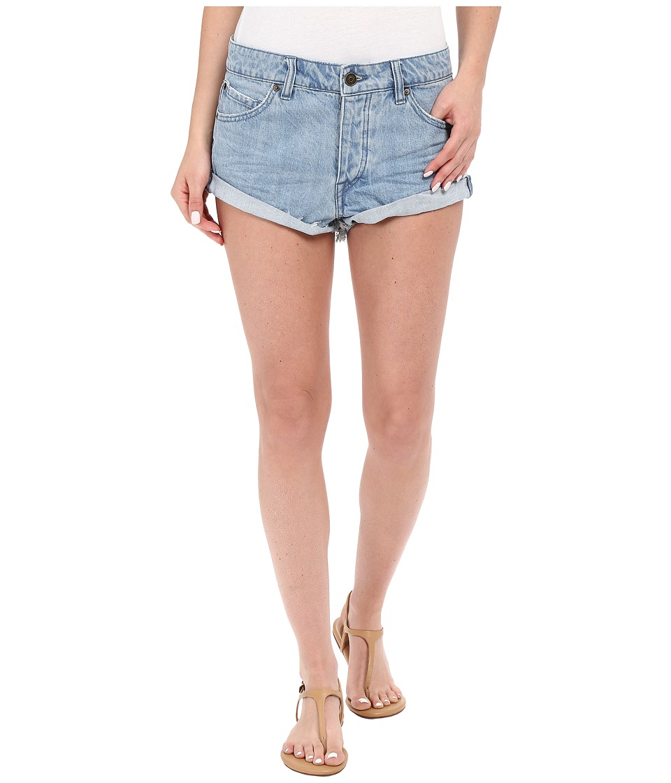 Volcom - Stoned Rolled Shorts (Used Blue) Women's Shorts