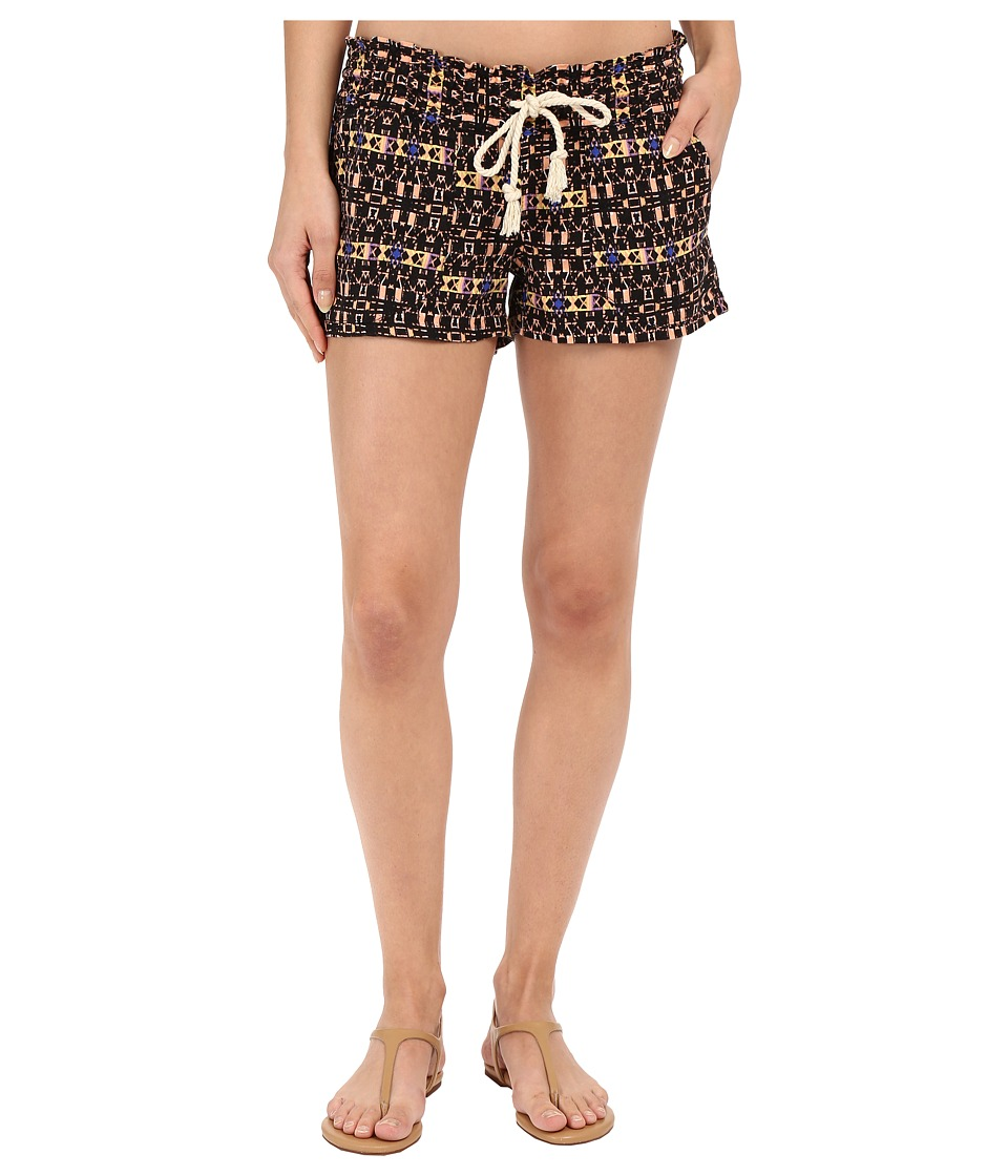 Roxy - Oceanside Printed Shorts (Modern Geo/True Black) Women's Shorts