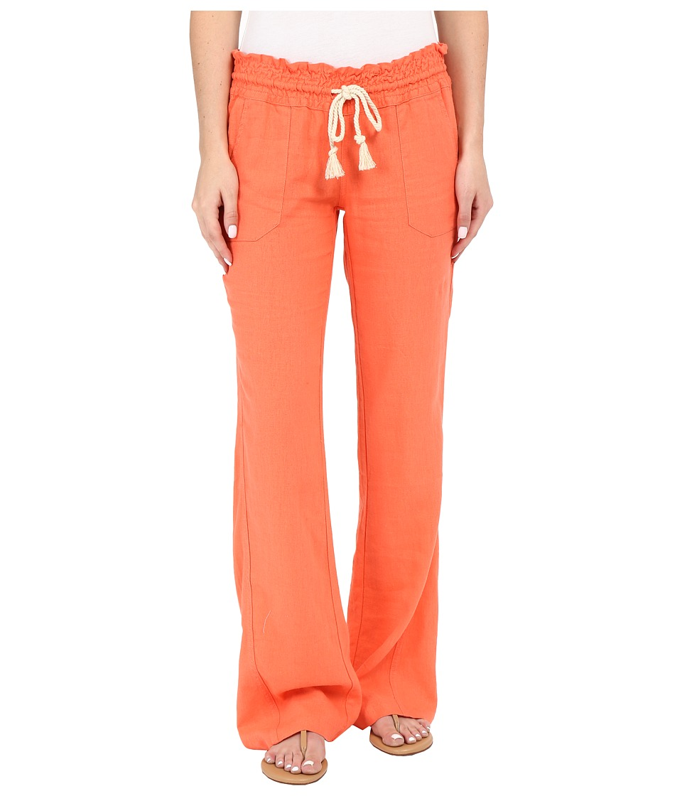 Roxy - Ocean Side Pant (Living Coral) Women's Casual Pants