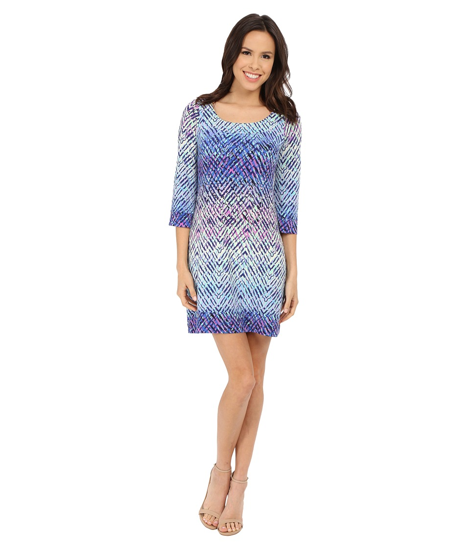 Jessica Simpson - Printed Shift Dress (Ombre Ziggy) Women's Dress