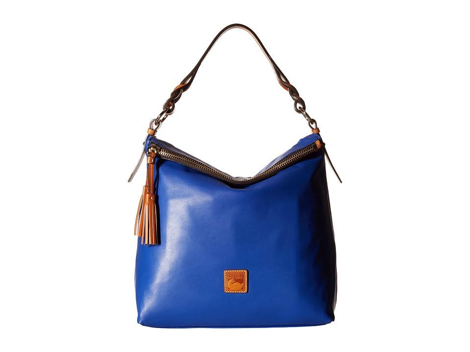 Dooney & Bourke - Newbury Leather Sloan (Cobalt w/ Natural Trim) Handbags