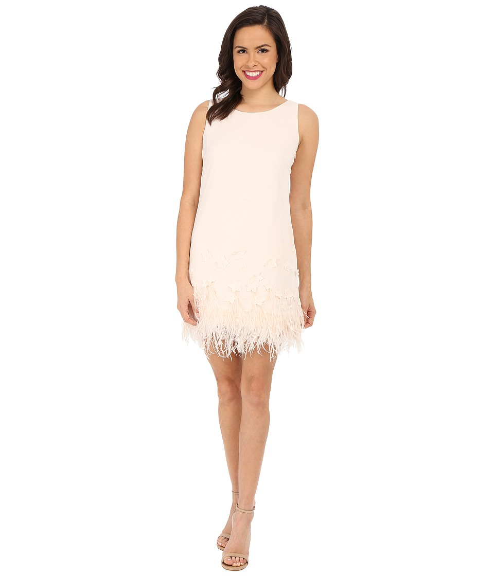 Jessica Simpson - Crepe Dress with Feather Applique (New Blush) Women's Dress