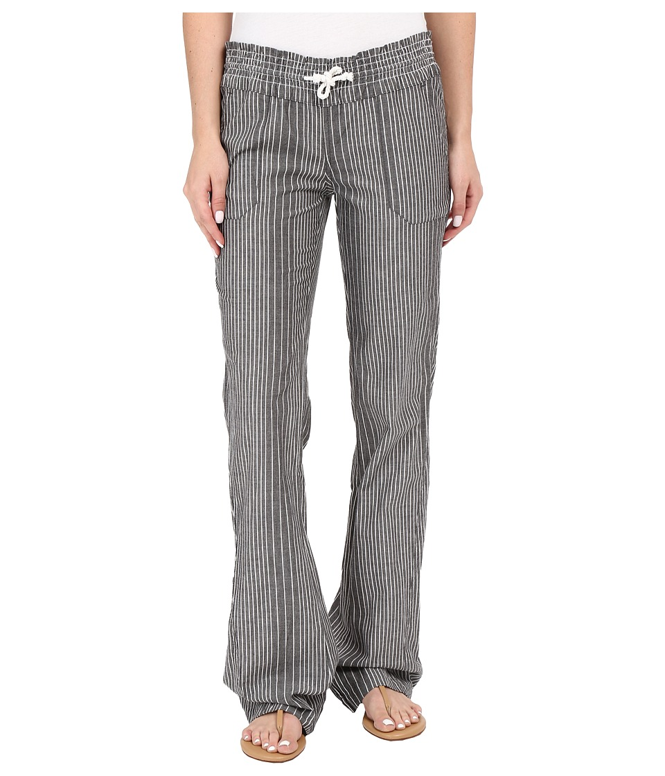 Roxy - Oceanside Stripe Pants (Micro Stripe Combo/True Black) Women's Casual Pants