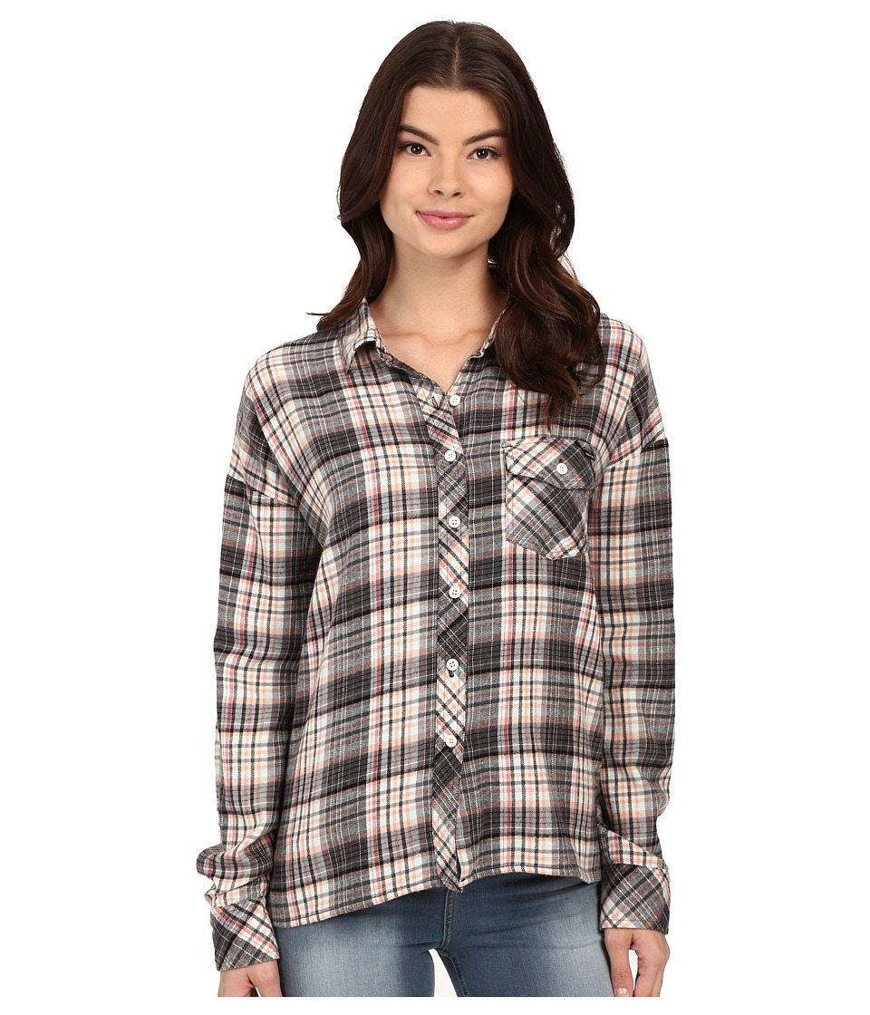 Volcom - Oldie N Goodie Long Sleeve Shirt (Black) Women's Long Sleeve Button Up