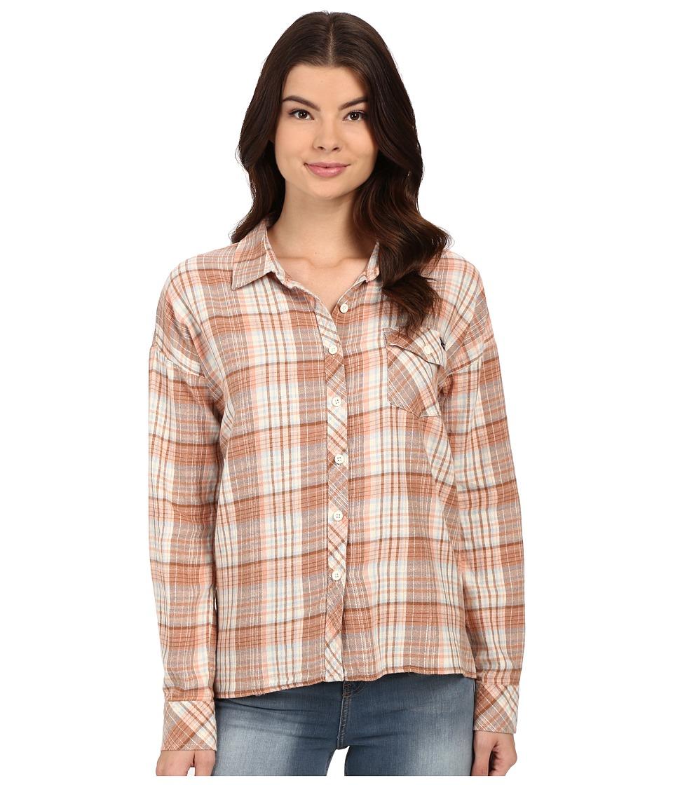 Volcom - Oldie N Goodie Long Sleeve Shirt (Vintage Brown) Women's Long Sleeve Button Up