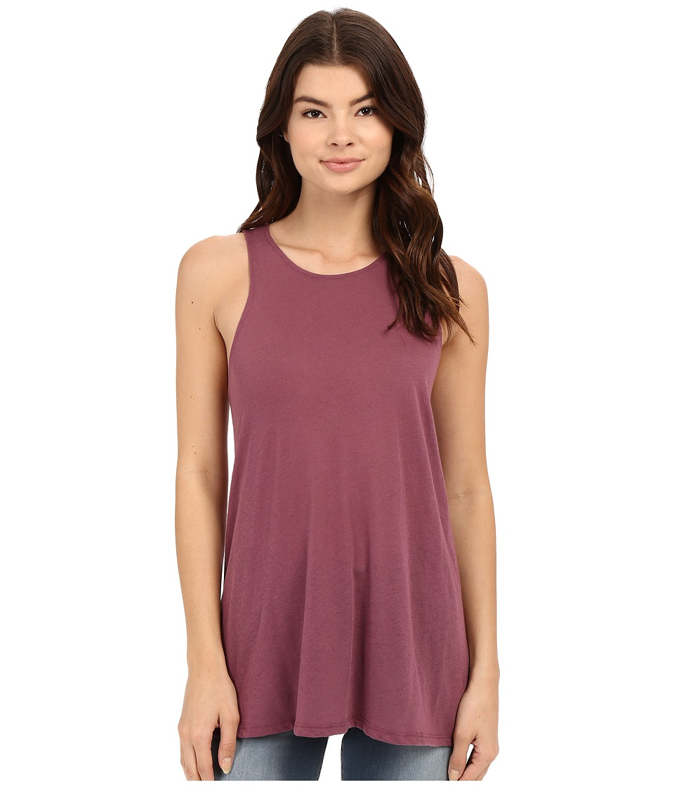 RVCA - Label High Neck Tunic Tank Top (Muddy Plum) Women's Sleeveless