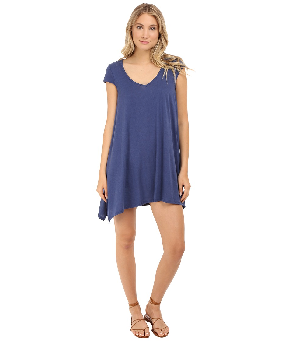 Volcom - Madness Tee Dress (Navy) Women's Dress