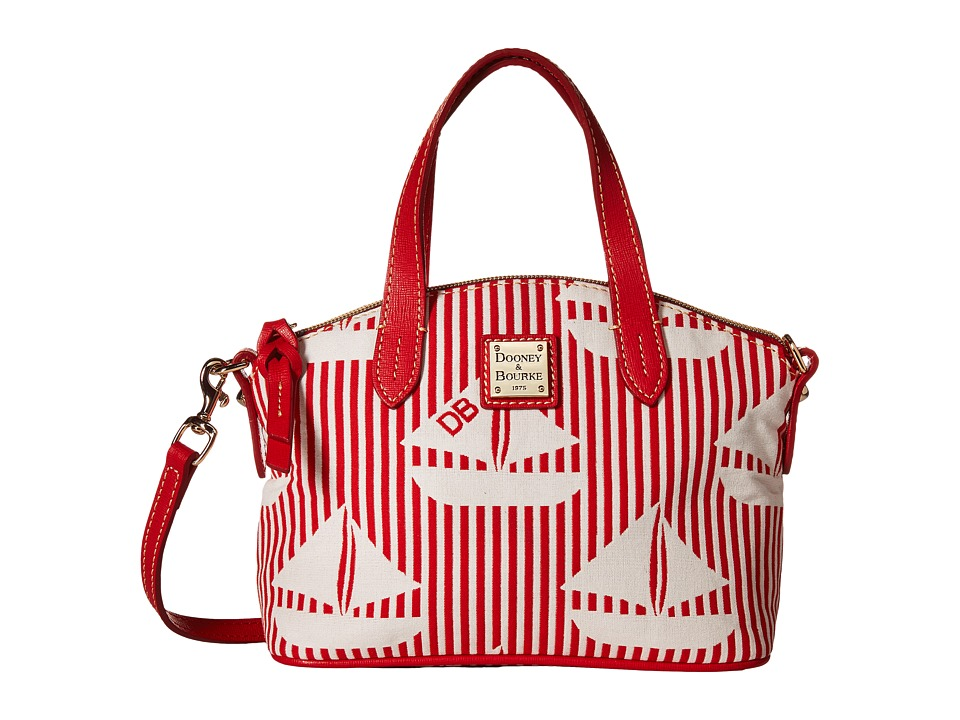 Dooney & Bourke - Ruby Bag Sailboat (Red w/ White Trim) Handbags