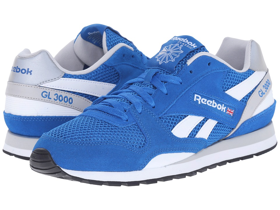 Reebok Lifestyle - GL 3000 Mesh (Blue Sport/Steel/White/Black) Men's Classic Shoes