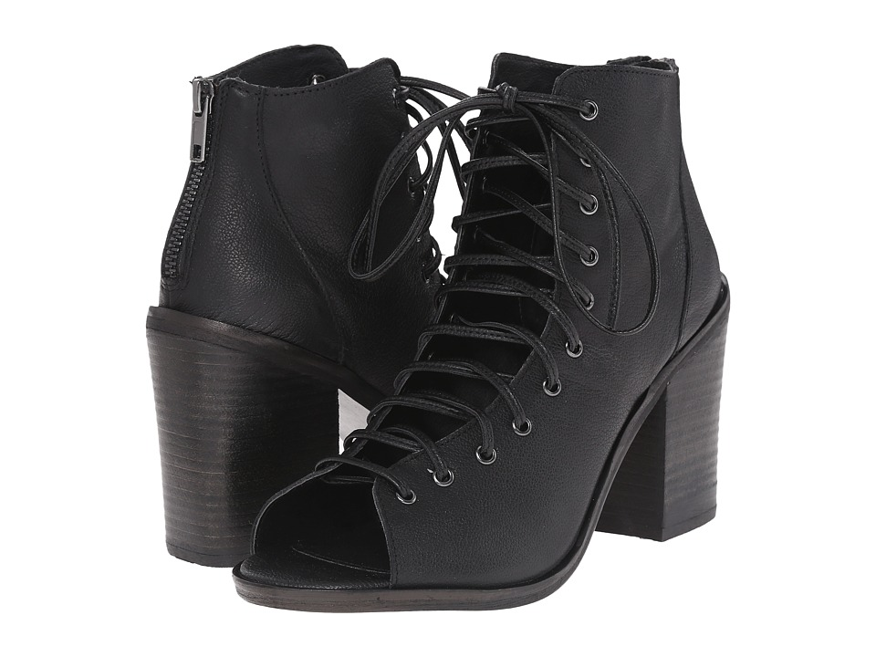 Steve Madden - Temptng (Black Leather) High Heels