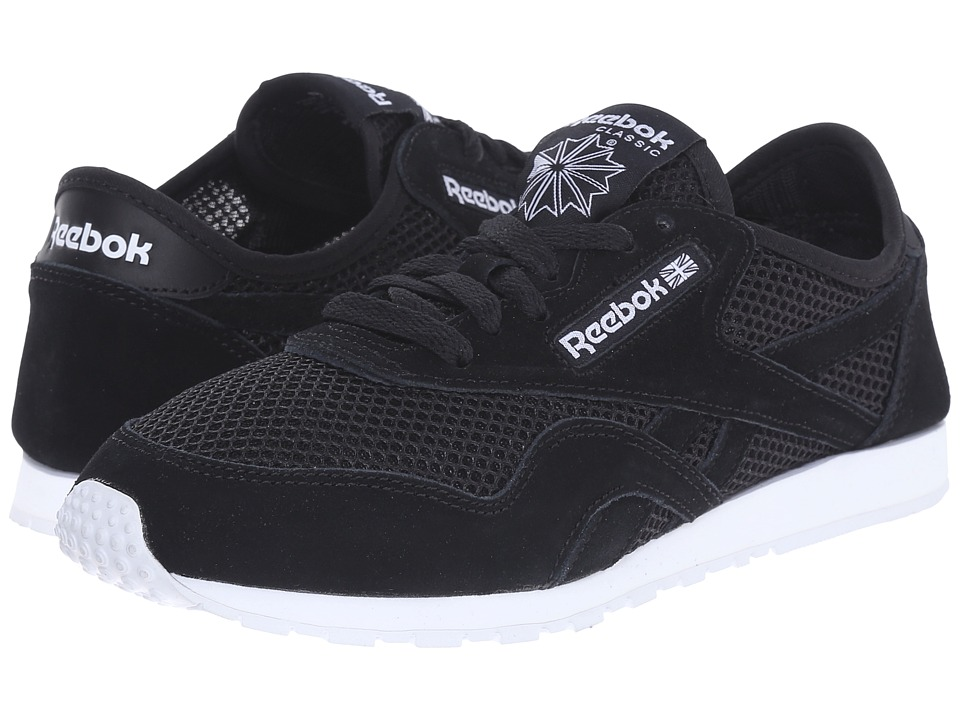 Reebok Lifestyle - Classic Nylon Slim Mesh (Black/White) Women's Classic Shoes
