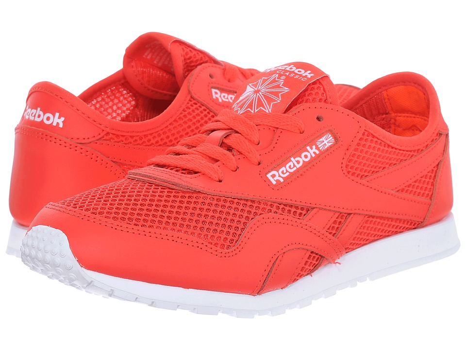 Reebok Lifestyle - Classic Nylon Slim Mesh (Laser Red/Atomic Red/White) Women's Classic Shoes