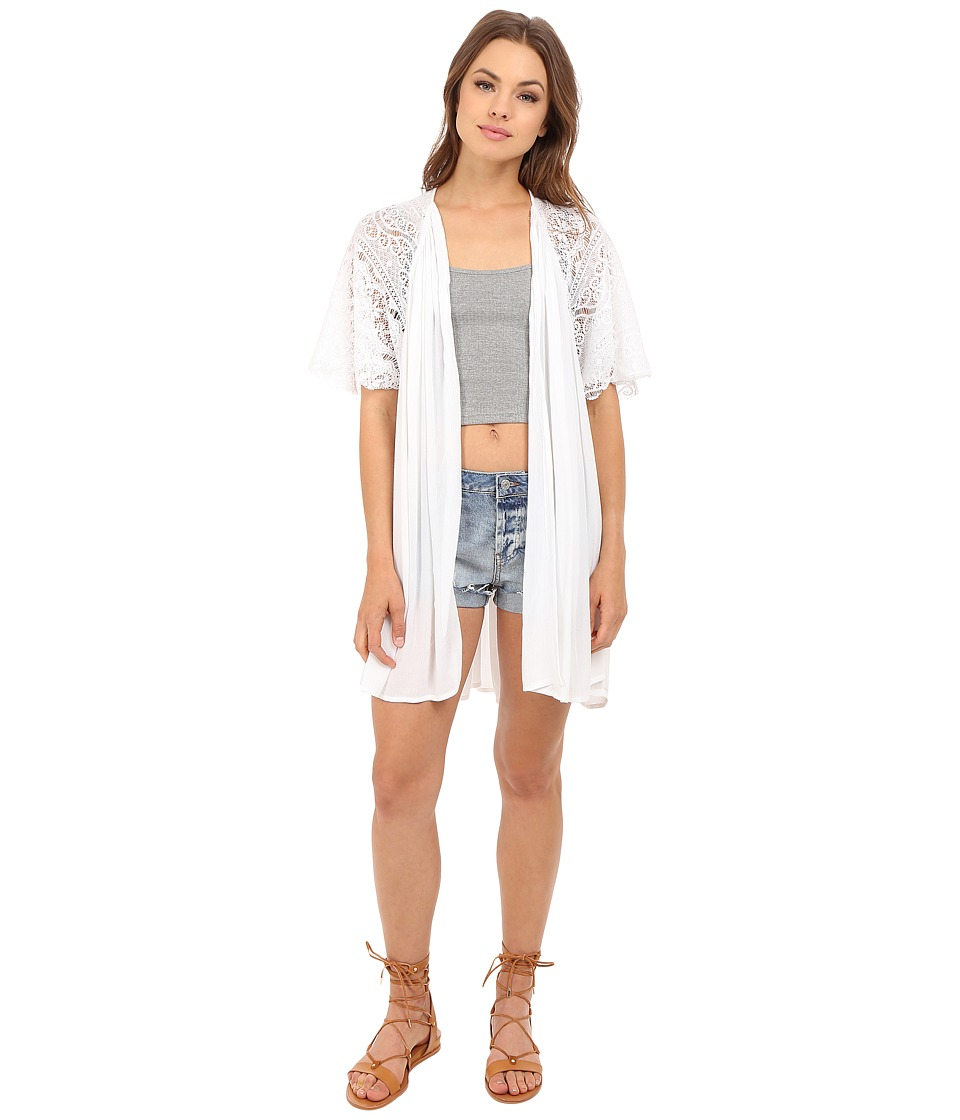 Volcom - Cactus Flower Throw (White) Women's Clothing