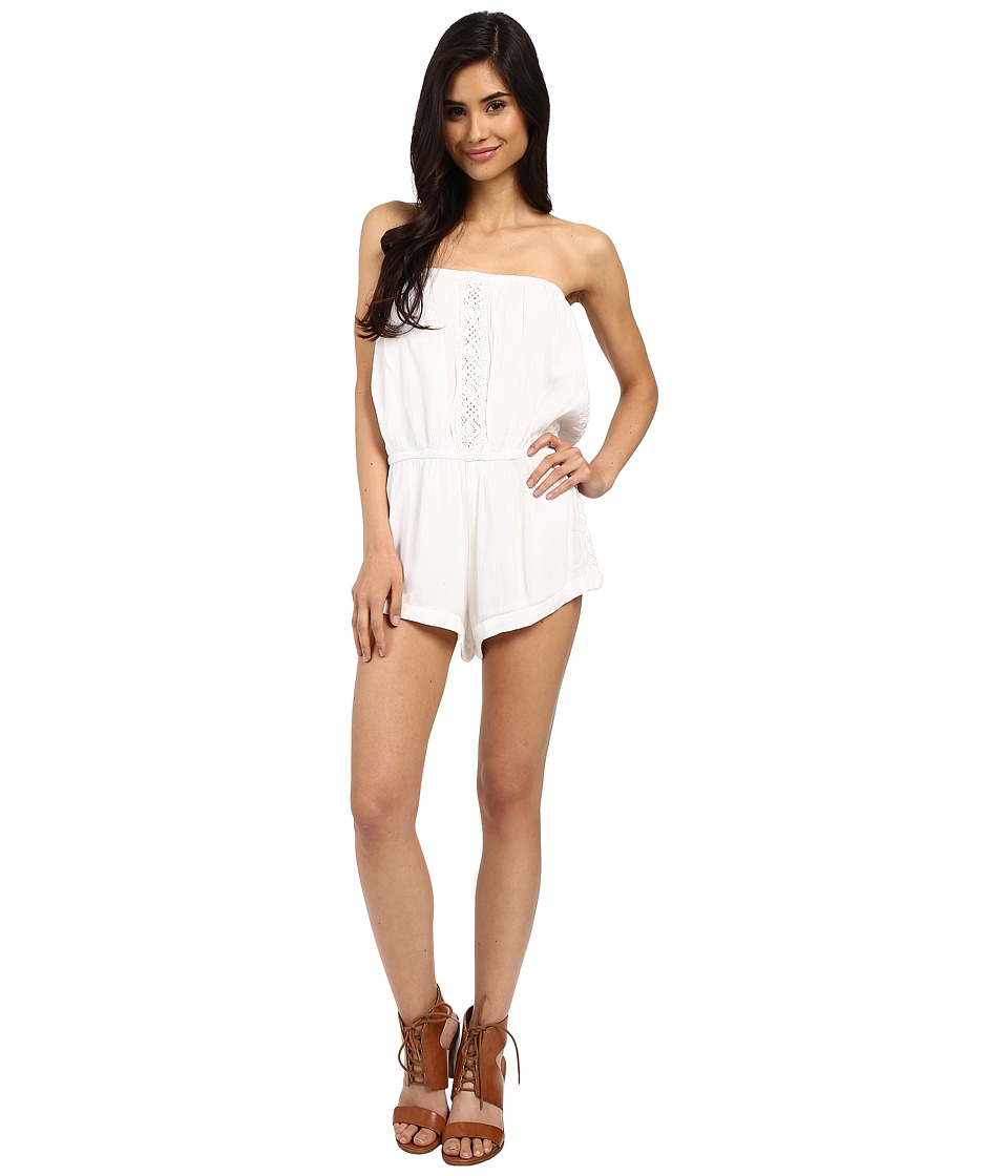 Volcom - Cactus Flower Romper (White) Women's Jumpsuit & Rompers One Piece