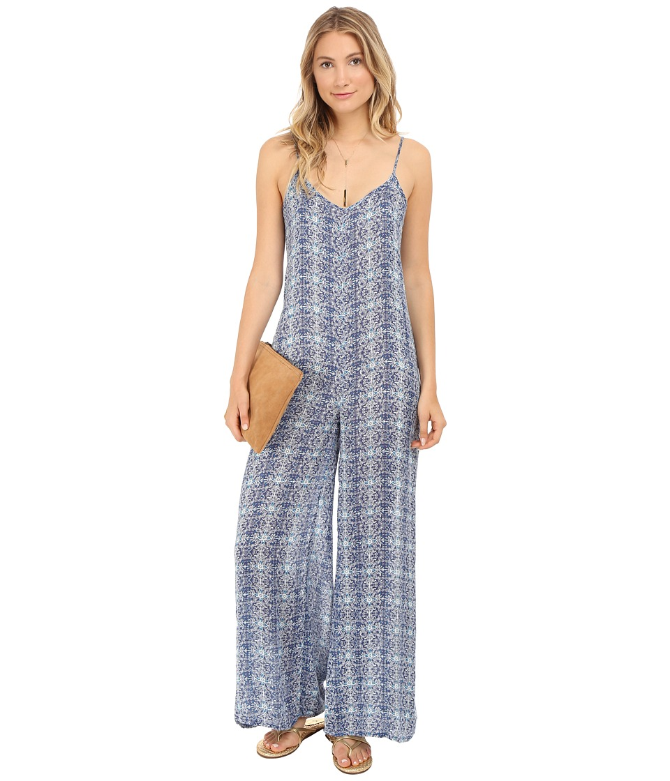 Volcom - Shutterbug Jumpsuit (Bright Blue) Women's Jumpsuit & Rompers One Piece