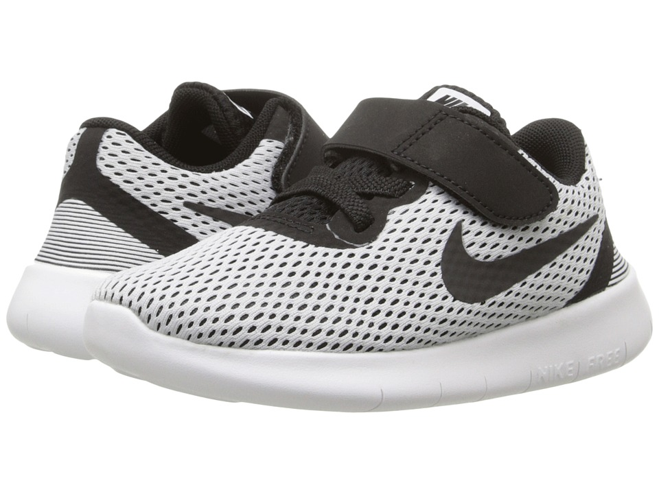 Nike Kids - Free RN (Infant/Toddler) (White/Black) Boys Shoes