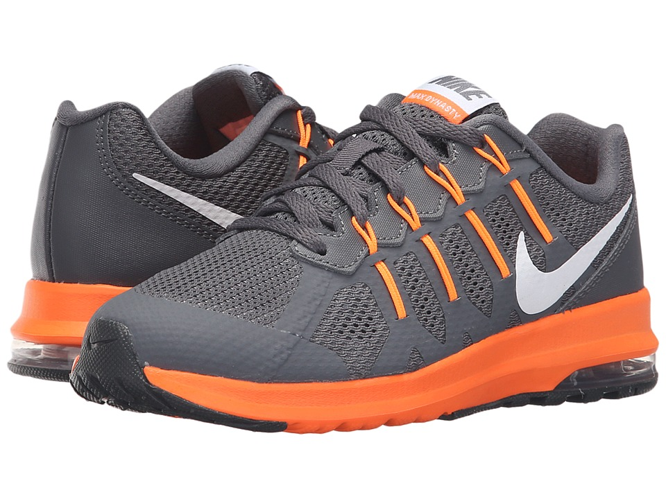 Nike Kids - Air Max Dynasty (Little Kid) (Dark Grey/White/Total Orange) Boys Shoes