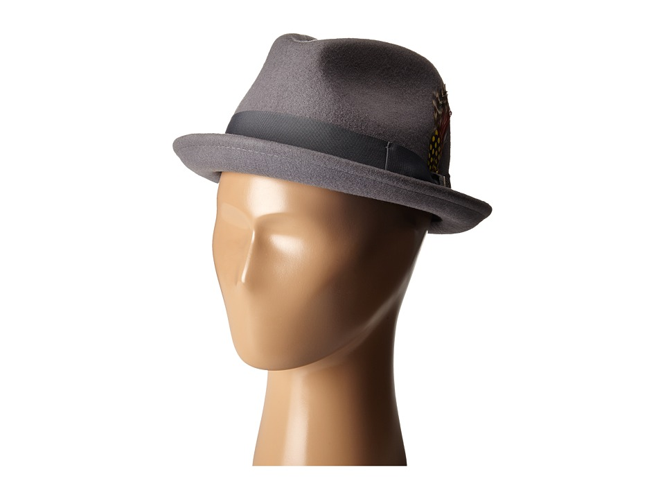 Brixton - Gain Fedora (Light Grey) Fedora Hats