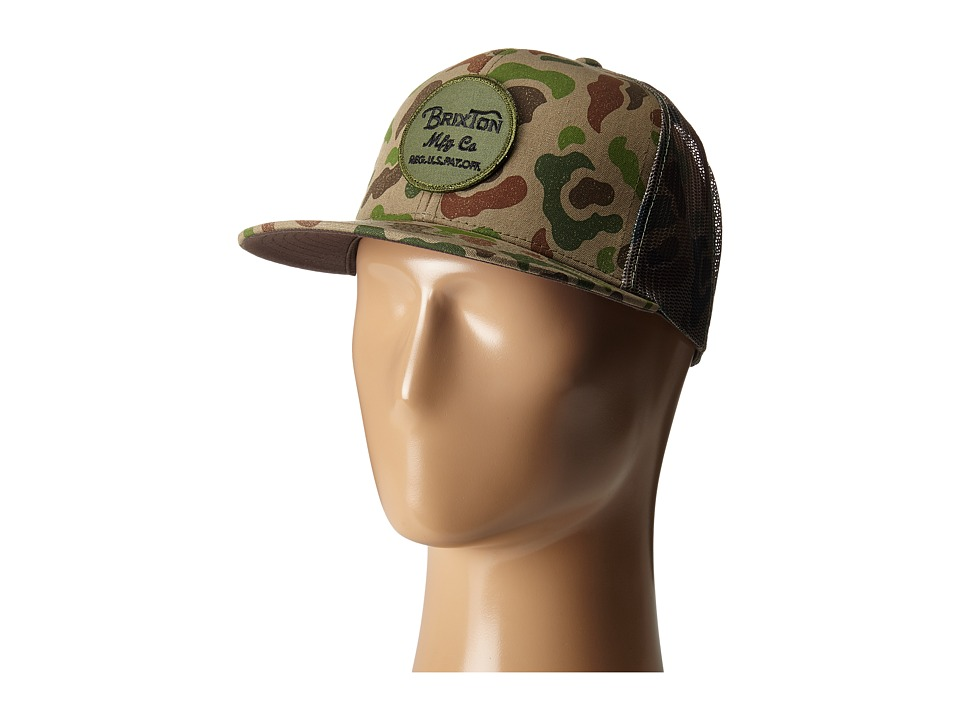 Brixton - Wheeler Mesh Cap (Brown/Camo) Caps