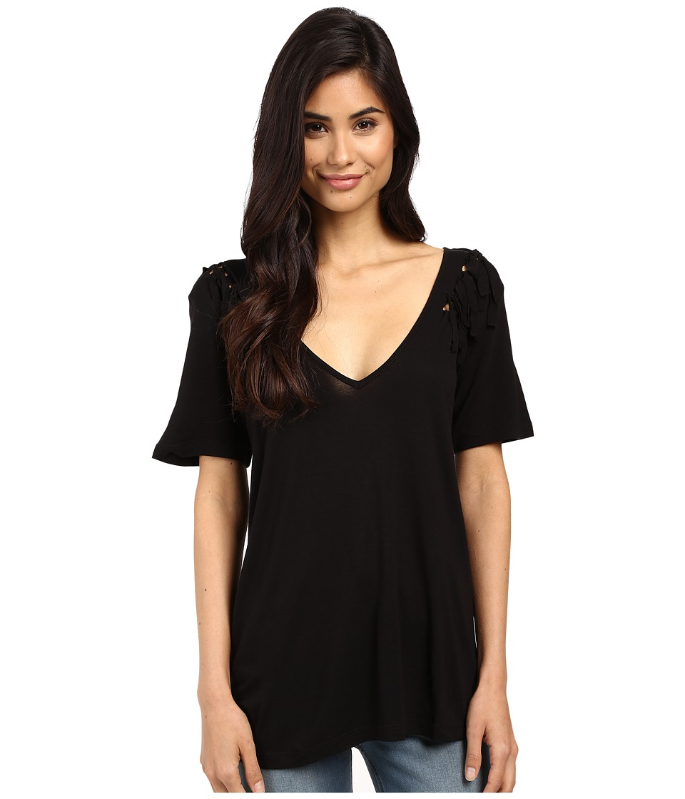 Volcom - Knot Happening Top (Black) Women's T Shirt