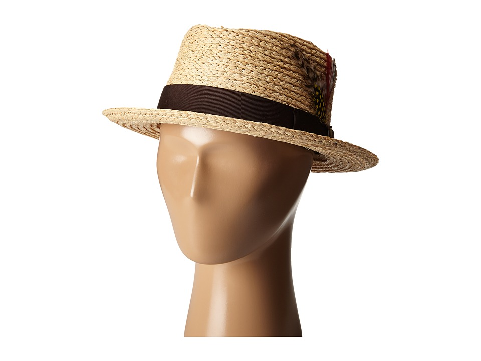 Brixton - Delta Fedora (Light Tan) Fedora Hats