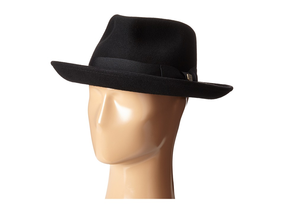 Brixton - Swindle Fedora (Black/Black) Traditional Hats