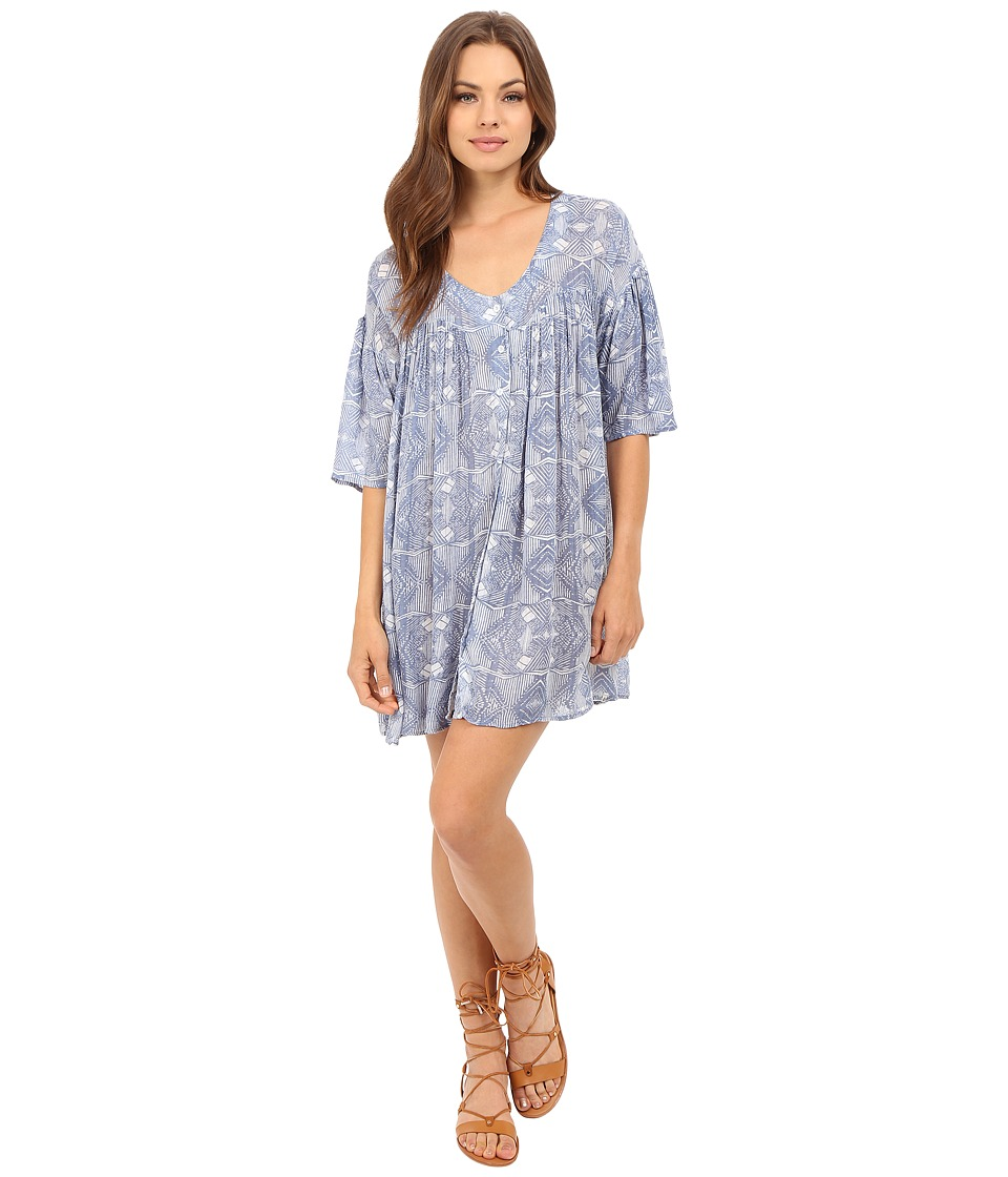 Volcom - Shutterbug Dress (Indigo) Women's Dress